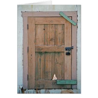 When a door closes... card