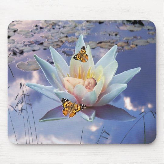 When a little baby goes to sleep mouse pad