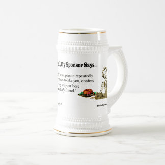When a person repeatedly refuses to like you.... beer stein