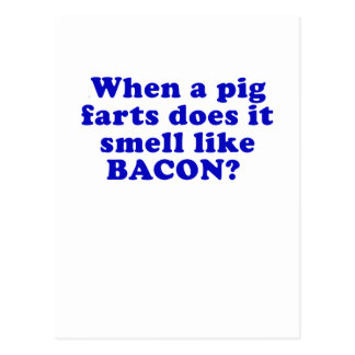 When a Pig Farts does it Smell like Bacon Postcard