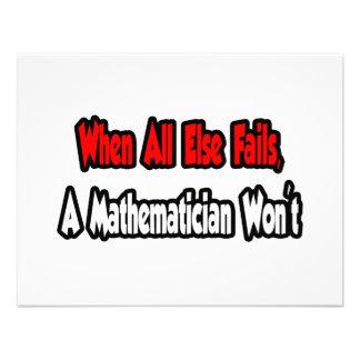 When All Else Fails, A Mathematician Won't Invites