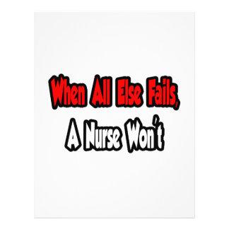When All Else Fails A Nurse Won t Full Color Flyer