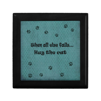 When all else fails...Hug the Cat Jewelry Box