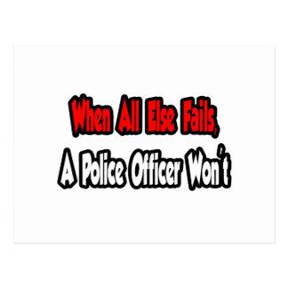 When All Else Fails, Police Officer Postcard