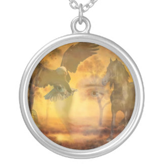 When all is one round pendant necklace