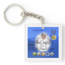 When Angels Fly Square Key Chain