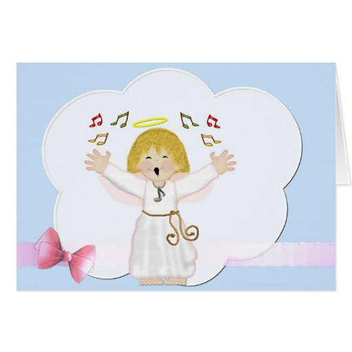 When Angels Sing Blank Note Card