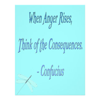 *When Anger Rises...*- Confucius Quote Custom Flyer