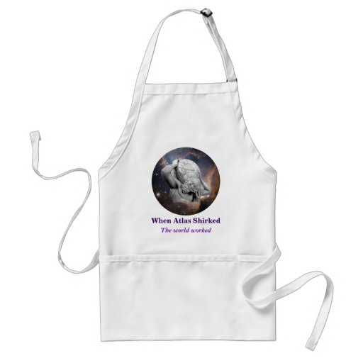 When Atlas Shirked Medallion Adult Apron