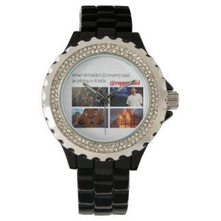 when B Rabbit said Watch, Black Enamel Wristwatches