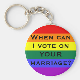 When can I vote on YOUR marriage? Basic Round Button Keychain