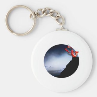 When crawfish whistle on the mountain basic round button keychain