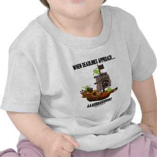 When Deadlines Approach... Aaarrrggghhh! (Android) Tee Shirts