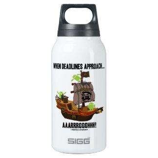 When Deadlines Approach... Aaarrrggghhh Bugdroid Thermos Water Bottle