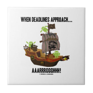 When Deadlines Approach... Aaarrrggghhh Bugdroid Tile