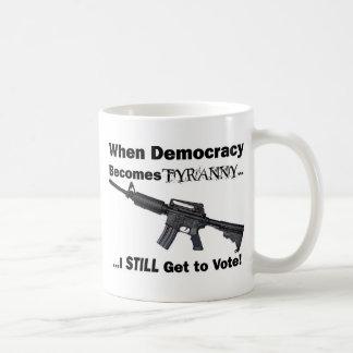 When Democracy Becomes Tyranny... Classic White Coffee Mug