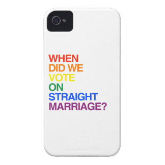 WHEN DID WE VOTE ON STRAIGHT MARRIAGE.png iPhone 4 Case-Mate Case
