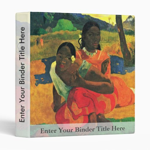 When Did You Marry? (Faa Nafea Ipoipo?) By Gauguin 3 Ring Binders
