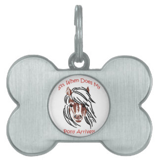 When Does Pony Arrive Pet ID Tag
