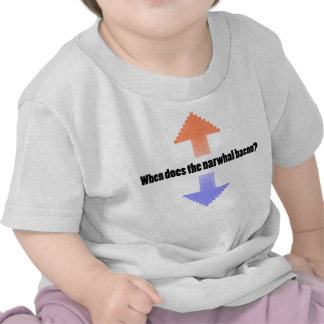 When Does the Narwhal Bacon Upvote Reddit Question Tshirt