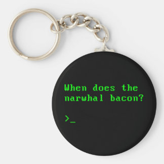 When Does the Narwhal Bacon VGA Reddit Question Keychain