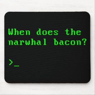 When Does the Narwhal Bacon VGA Reddit Question Mouse Pad
