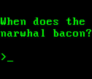 acb744b4b8 When Does the Narwhal Bacon VGA Reddit Question Pinback Button