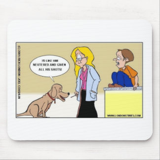 When Dogs R The Masters Funny Gifts & Tees Mouse Pad