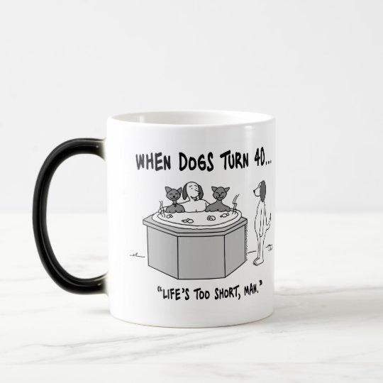 When Dogs Turn 40 Morphing Mug