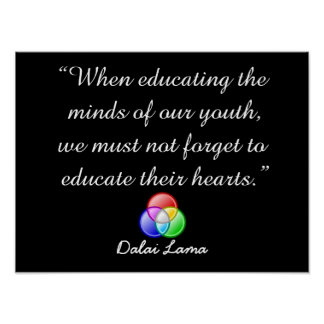 When educating the minds - quote poster