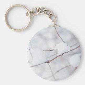 When Everything Is White Basic Round Button Keychain