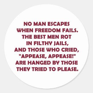 When Freedom Fails Classic Round Sticker