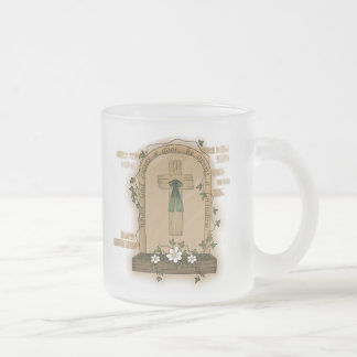 When God Closes a Door He Opens a Window Frosted Glass Coffee Mug