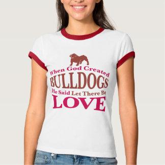 When God Created Bulldogs T-Shirt