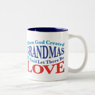 When God Created Grandmas Two-Tone Coffee Mug