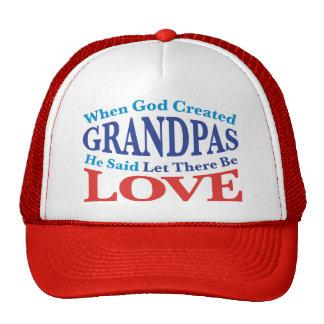 When God Created Grandpas Trucker Hat