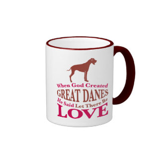 When God Created Great Danes Mugs