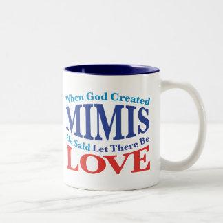 When God Created Mimis Two-Tone Coffee Mug