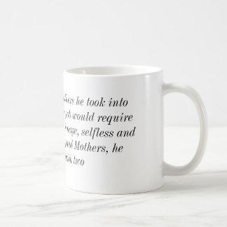 When God created Mothers Classic White Coffee Mug