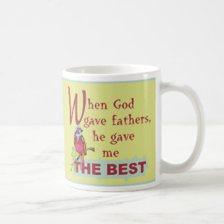 When God Gave Fathers© EngMug Classic White Coffee Mug