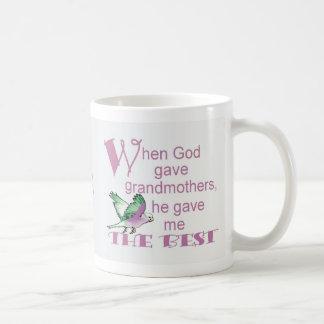 When God Gave Grandmothers© Classic White Coffee Mug