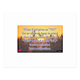 When God Gives Us A No Postcard