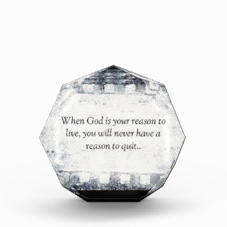 When God is Your Reason to Live Award