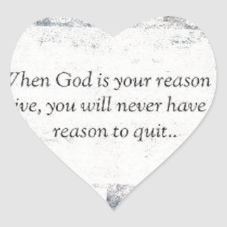 When God is Your Reason to Live Stickers
