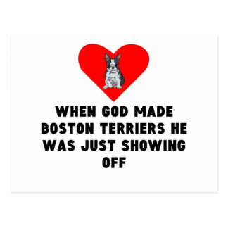 When God Made Boston Terriers Postcard