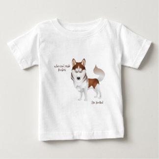 When God Made Huskies Tee Shirt