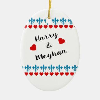 When Harry met Meghan Ceramic Ornament