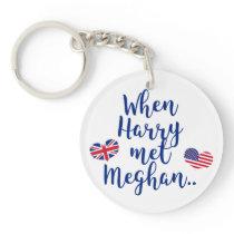 When Harry met Meghan   Fun Royal Wedding Keychain