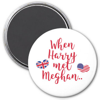 When Harry met Meghan | Fun Royal Wedding Magnet