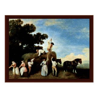 When Haymaking By Stubbs George Postcard